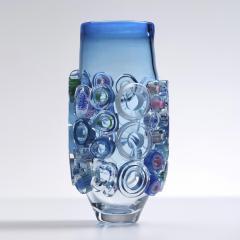 Sabine Lintzen Bright Field Aquamarine with Circles - 1426952