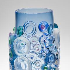 Sabine Lintzen Bright Field Aquamarine with Circles - 1426953