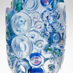 Sabine Lintzen Bright Field Aquamarine with Circles - 1426954