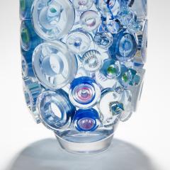 Sabine Lintzen Bright Field Aquamarine with Circles - 1426955