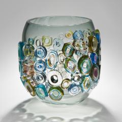 Sabine Lintzen Common Ray Blue Green with Green Diamonds - 1426937