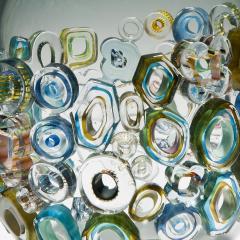Sabine Lintzen Common Ray Blue Green with Green Diamonds - 1426941