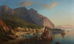 Sail Boats and Fishermen on the Coast of Capri - 1570281