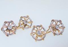 Sailing motif cufflinks circa 1920 - 1139669