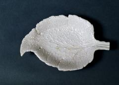 Saltglaze Stoneware Sweetmeat Dishes in the form of Vine Leaves A Pair - 1847807