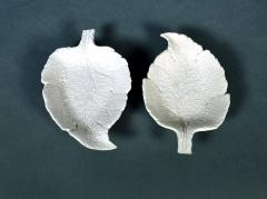 Saltglaze Stoneware Sweetmeat Dishes in the form of Vine Leaves A Pair - 1847809