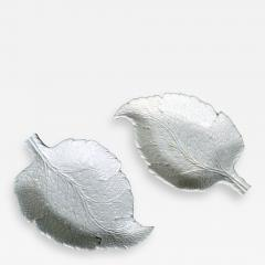 Saltglaze Stoneware Sweetmeat Dishes in the form of Vine Leaves A Pair - 1848430