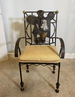 Salvador Dal American Modern Surrealist Steel Parcel gilt Armchair manner of Salvador Dali - 1920517