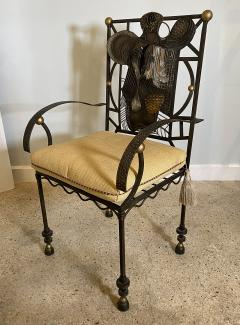 Salvador Dal American Modern Surrealist Steel Parcel gilt Armchair manner of Salvador Dali - 1920520