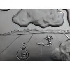Salvador Dal Homage to Philosophy silver bas relief - 1049757