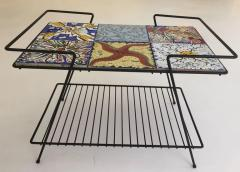Salvador Dal Rare Pair of Salvador Dali Tile Side Tables - 602831