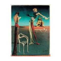 Salvador Dal Salvador Dal Leda Sculptural Chair from Femme t te de roses Painting - 2045280