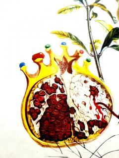 Salvador Dal Salvador Dali Angel and Pomegranate Original Hand Signed Lithograph - 1049267