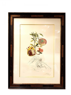 Salvador Dal Salvador Dali Angel and Pomegranate Original Hand Signed Lithograph - 1049273