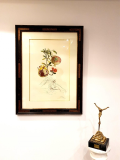 Salvador Dal Salvador Dali Angel and Pomegranate Original Hand Signed Lithograph - 1049274