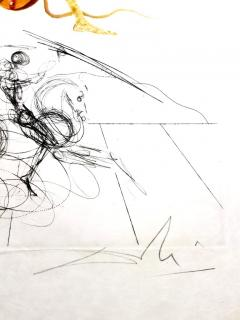 Salvador Dal Salvador Dali Apricot Original Hand Signed Lithograph - 1049278