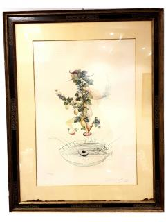 Salvador Dal Salvador Dali Currants Reverence Original Hand Signed Lithograph - 1049310