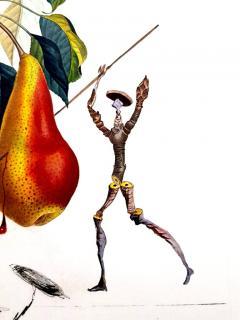 Salvador Dal Salvador Dali Don Quixote Pear Original Hand Signed Lithograph - 1049561