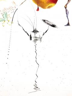 Salvador Dal Salvador Dali Don Quixote Pear Original Hand Signed Lithograph - 1049565