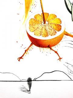 Salvador Dal Salvador Dali Erotic Grapefruit Original Hand Signed Lithograph - 1049390