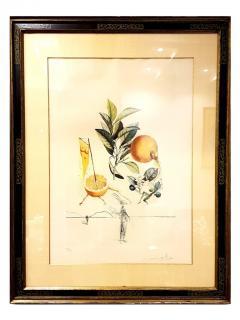 Salvador Dal Salvador Dali Erotic Grapefruit Original Hand Signed Lithograph - 1049395