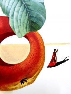 Salvador Dal Salvador Dali Fruits With Holes Original Hand Signed Lithograph - 1049431