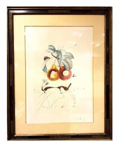 Salvador Dal Salvador Dali Fruits With Holes Original Hand Signed Lithograph - 1049436
