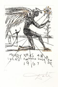 Salvador Dal Salvador Dali Merry Christmas Original HandSigned Etching - 1049892