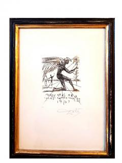 Salvador Dal Salvador Dali Merry Christmas Original HandSigned Etching - 1049895