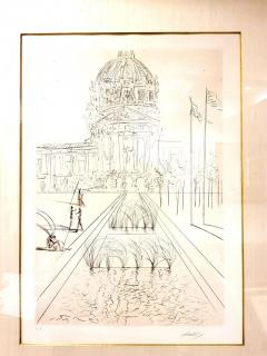 Salvador Dal Salvador Dali San Francisco City Hall Original Handsigned Etching - 1050470