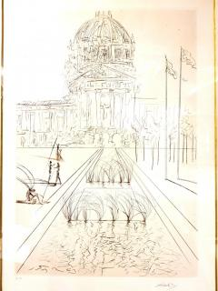 Salvador Dal Salvador Dali San Francisco City Hall Original Handsigned Etching - 1050475