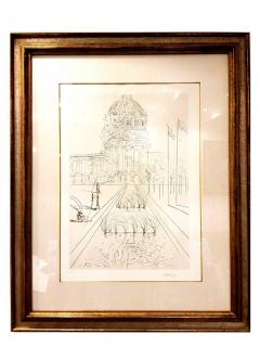 Salvador Dal Salvador Dali San Francisco City Hall Original Handsigned Etching - 1050480