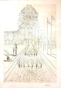 Salvador Dal Salvador Dali San Francisco City Hall Original Handsigned Etching - 1050585