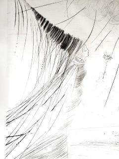 Salvador Dal Salvador Dali The Fairy Original Etching on Silk - 1048109