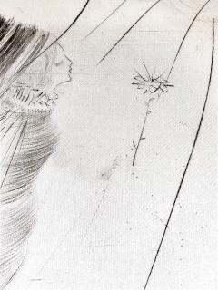 Salvador Dal Salvador Dali The Fairy Original Etching on Silk - 1048110