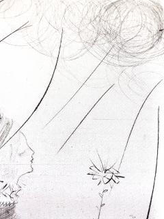 Salvador Dal Salvador Dali The Fairy Original Etching on Silk - 1048112