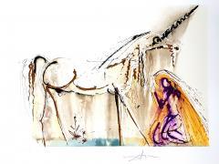 Salvador Dal Salvador Dali Unicorn Original Lithograph - 1048132