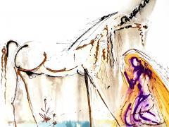 Salvador Dal Salvador Dali Unicorn Original Lithograph - 1048146