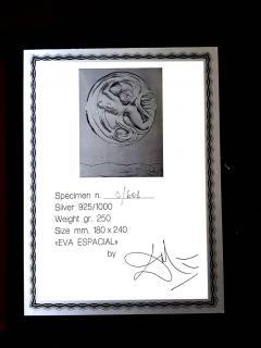 Salvador Dal Space Eve sillver bas relief - 1049760
