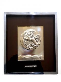 Salvador Dal Space Eve sillver bas relief - 1049763