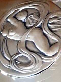 Salvador Dal Space Eve sillver bas relief - 1049765