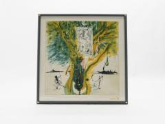 Salvador Dal The Emerald Of The Tablet Salvador Dali Silk Serigraphy 1976 1989 2000  - 1072606