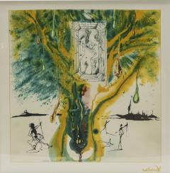 Salvador Dal The Emerald Of The Tablet Salvador Dali Silk Serigraphy 1976 1989 2000  - 1072897