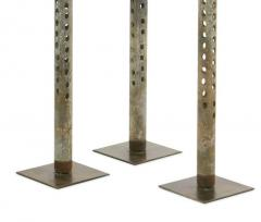 Salvaged Repurposed Industrial Antique Mounted Water Drill Bits Set of Three - 1468871