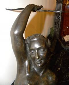 Salvatore Melani Bronze Art Deco Nude Sculpture by S Melani - 1331190