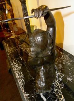 Salvatore Melani Bronze Art Deco Nude Sculpture by S Melani - 1331192