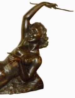 Salvatore Melani Bronze Art Deco Nude Sculpture by S Melani - 1331234
