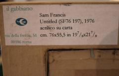 Sam Francis Sam Francis Untitled SF76 197 1976 Acrylic on Paper - 126689