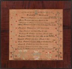 Sampler by Sarah Smithers Milford Hundred Kent County Delaware 1838 - 667859