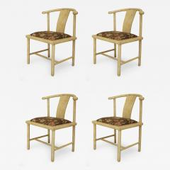 Samuel A Marx Set of 4 American Mid Century Modern White Parchment Side Chairs - 425547